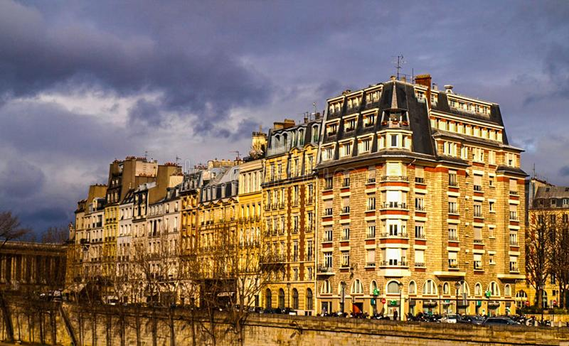 Em torno de Paris imagem de stock