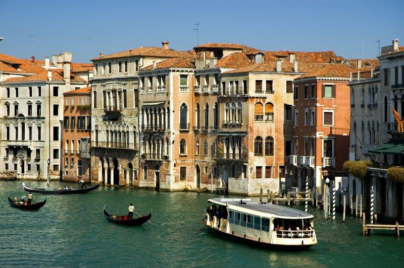 Em torno do canal grande, Veneza foto de stock royalty free