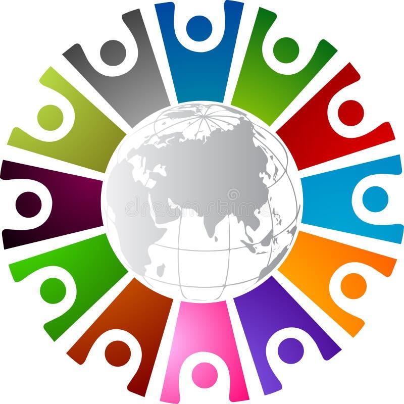 Em torno do logotipo humano ilustração royalty free