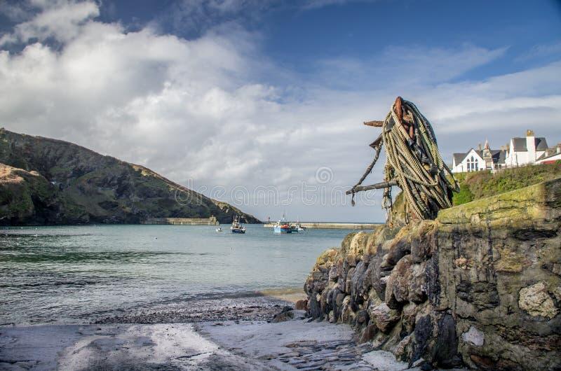 Em torno do lugar rural do issac do porto em Cornualha Inglaterra Reino Unido imagens de stock royalty free