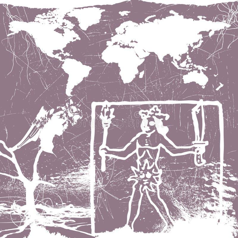 Em torno do mundo mystical ilustração royalty free