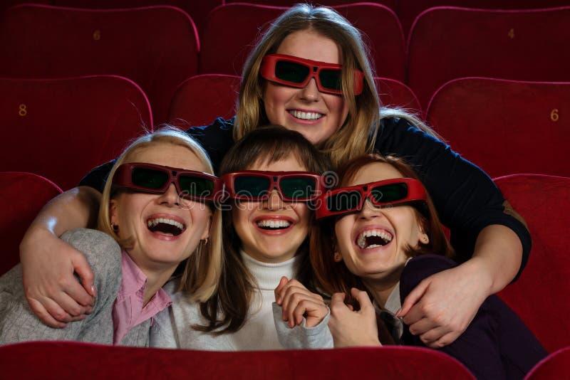 Em um cinema fotografia de stock royalty free
