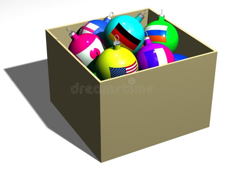 Em uma caixa ilustração do vetor