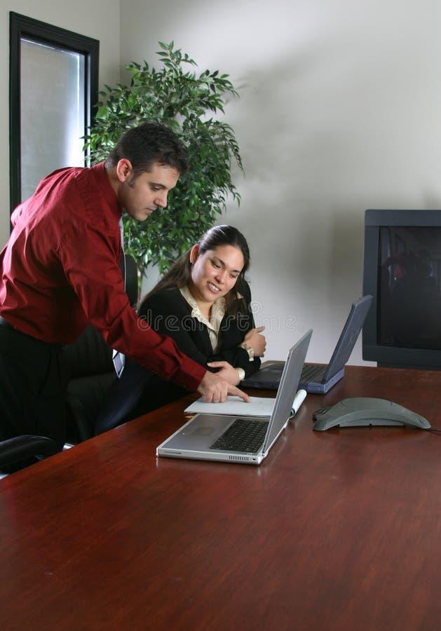 Em uma reunião imagem de stock