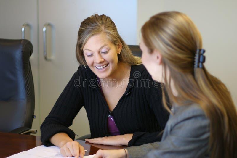 Em uma reunião imagem de stock royalty free