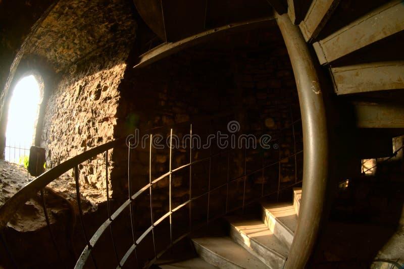 Em uma torre do segredo escuro fotos de stock royalty free