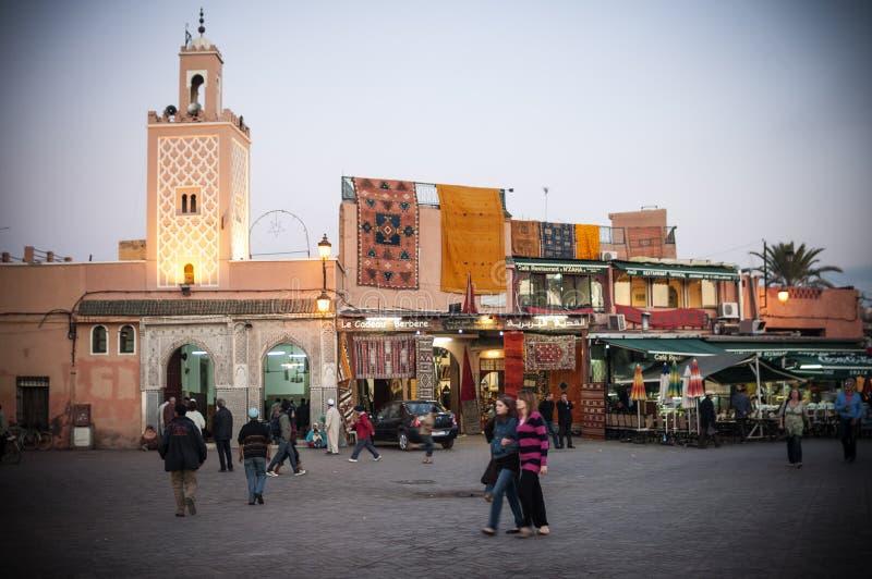 Emaa elFnaa正方形在马拉喀什 免版税库存图片