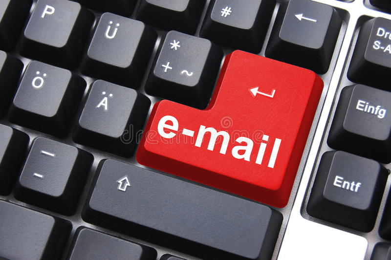 Email. Button on computer keyboard showing concept for internet communication