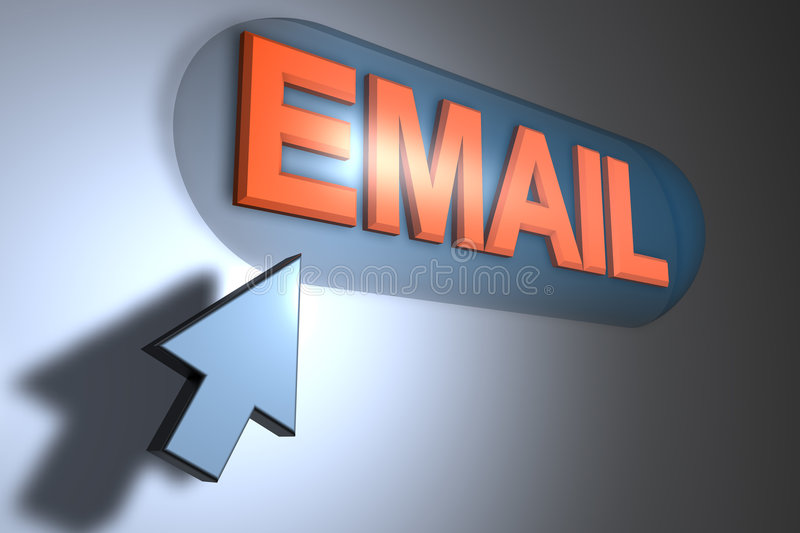 Email illustrazione di stock