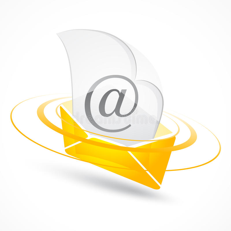 Email. An illustration and symbol for email