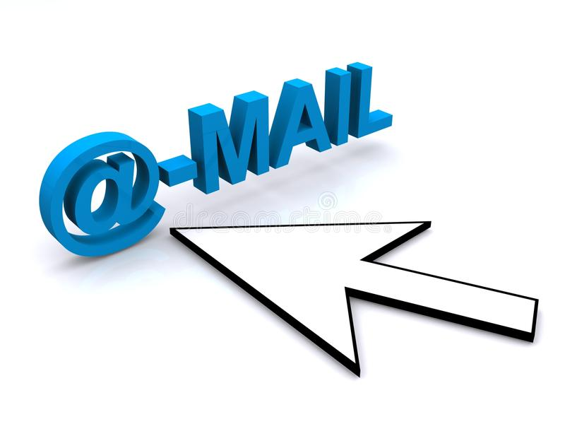 Email royalty free illustration