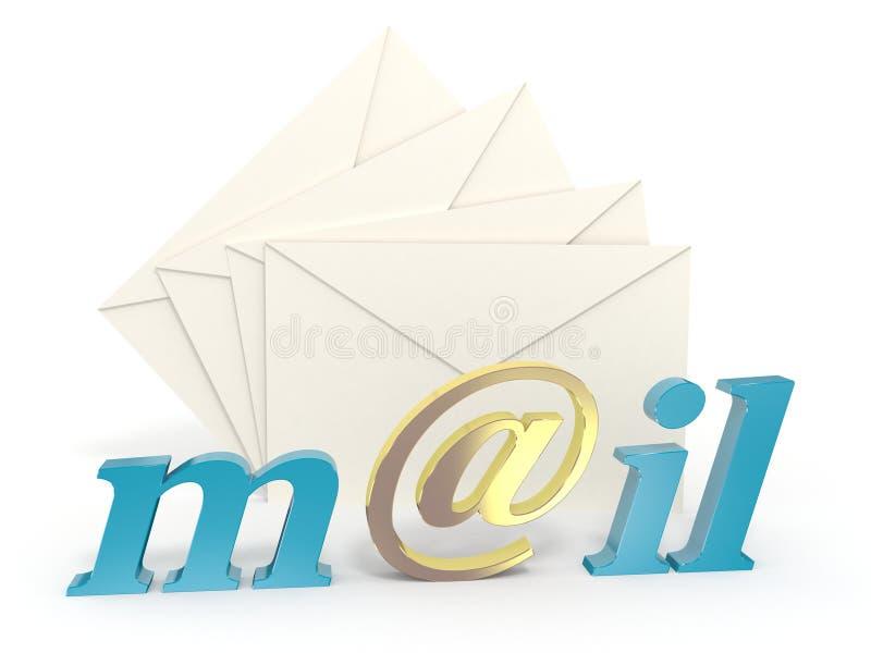 Email ilustración del vector