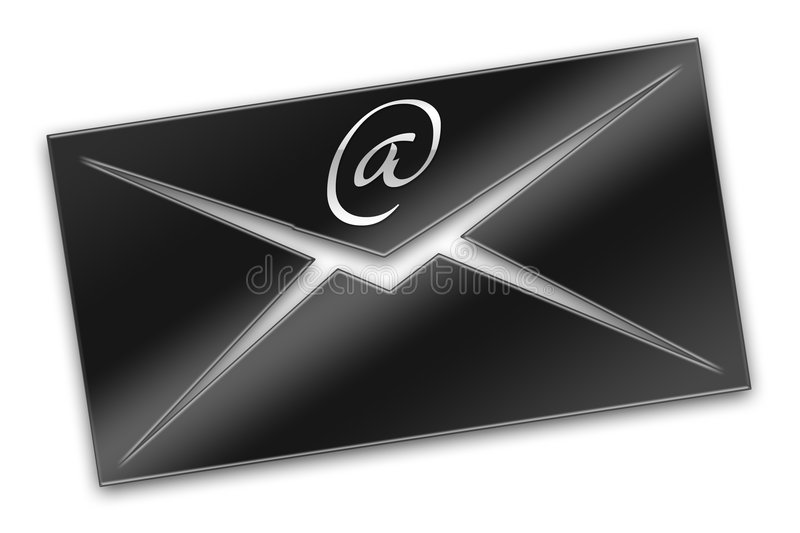Email. On a background of a planet vector illustration