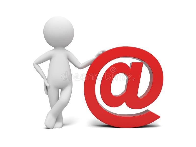 Email ilustração stock