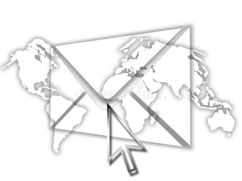 EMail-abstrakte Grafik stock abbildung