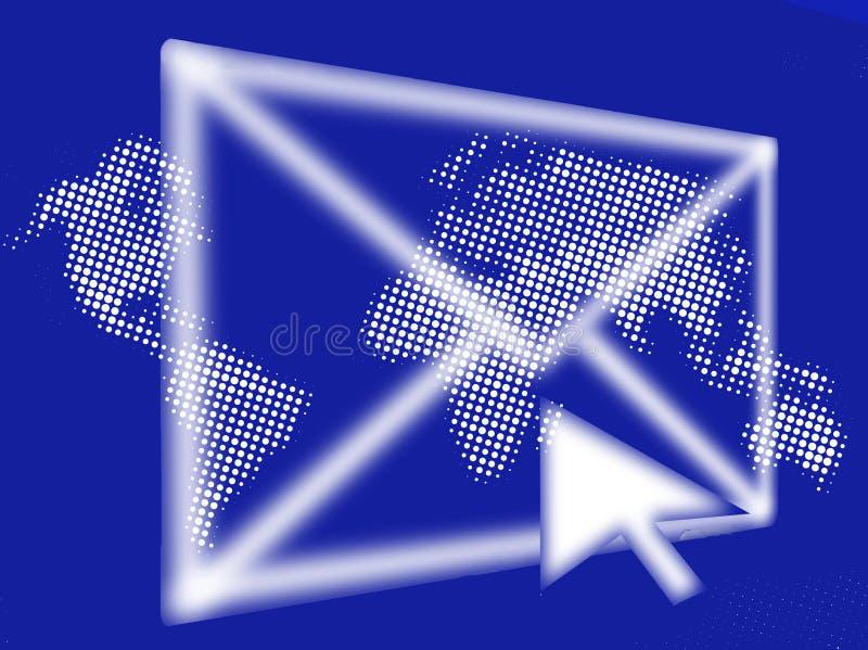EMail-abstrakte Grafik lizenzfreie abbildung