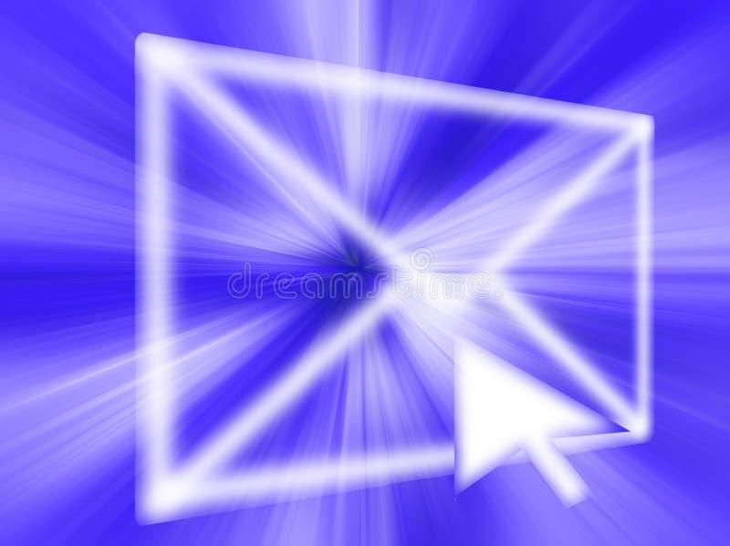 EMail-abstrakte Grafik vektor abbildung