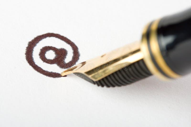 Email address de la escritura imágenes de archivo libres de regalías