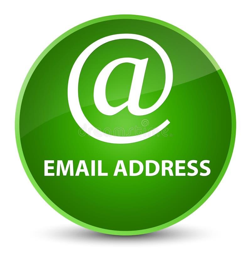 Email address elegant green round button. Email address isolated on elegant green round button abstract illustration royalty free illustration