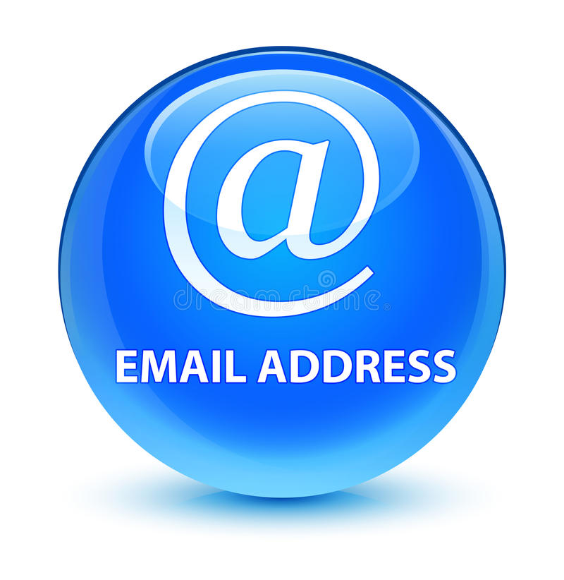 Email address glassy cyan blue round button. Email address isolated on glassy cyan blue round button abstract illustration stock illustration