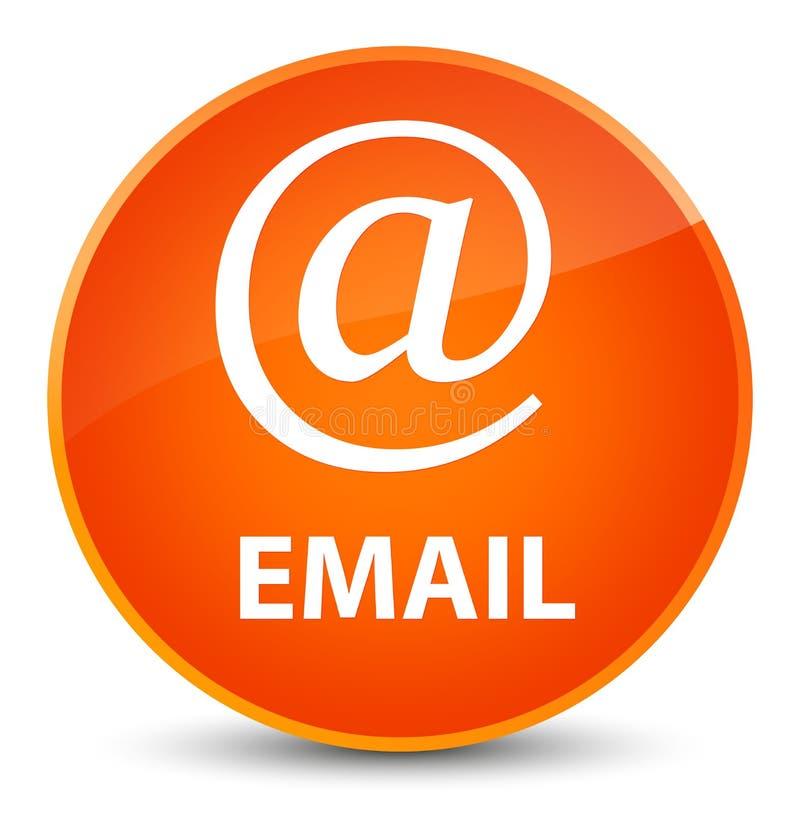 Email (address icon) elegant orange round button. Email (address icon) on elegant orange round button abstract illustration royalty free illustration