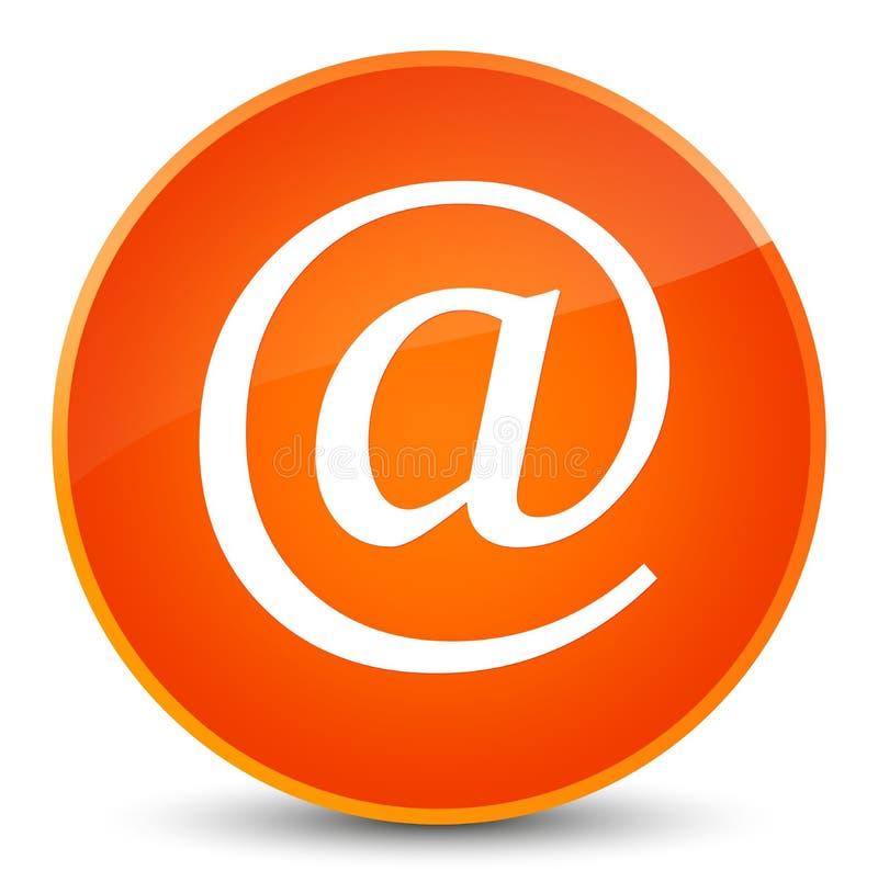 Email address icon elegant orange round button. Email address icon isolated on elegant orange round button abstract illustration royalty free illustration
