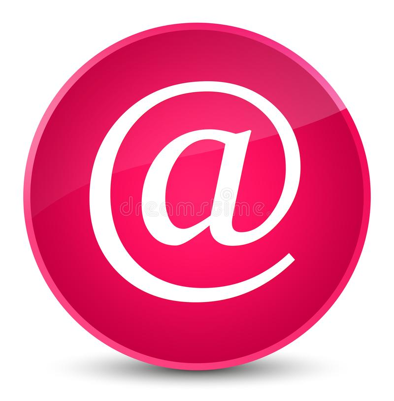 Email address icon elegant pink round button. Email address icon isolated on elegant pink round button abstract illustration royalty free illustration