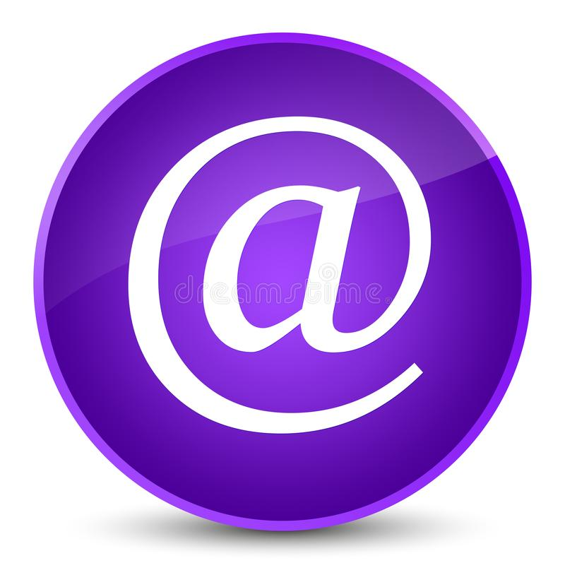Email address icon elegant purple round button. Email address icon isolated on elegant purple round button abstract illustration vector illustration