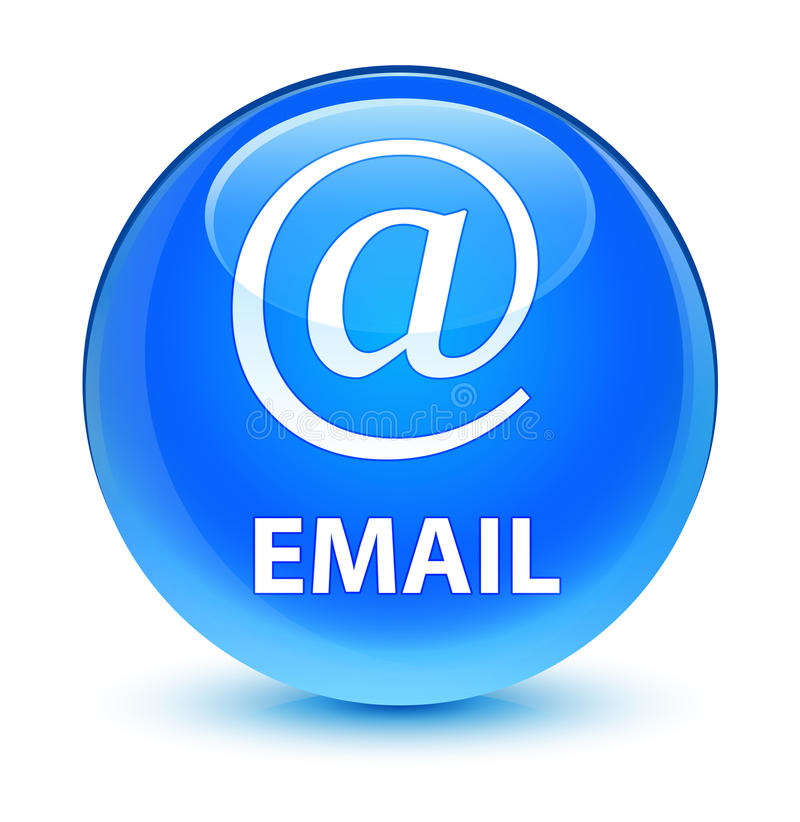 Email (address icon) glassy cyan blue round button. Email (address icon) isolated on glassy cyan blue round button abstract illustration royalty free illustration