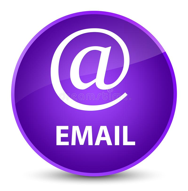 Email (address icon) elegant purple round button. Email (address icon) isolated on elegant purple round button abstract illustration stock illustration