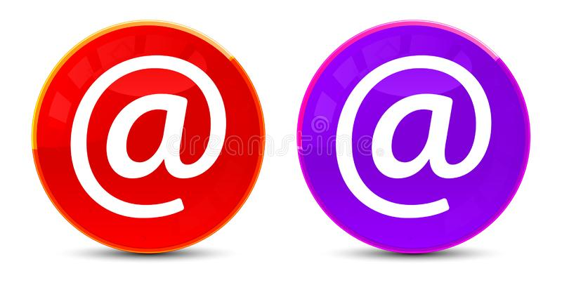 Email address icon glossy round buttons illustration royalty free illustration