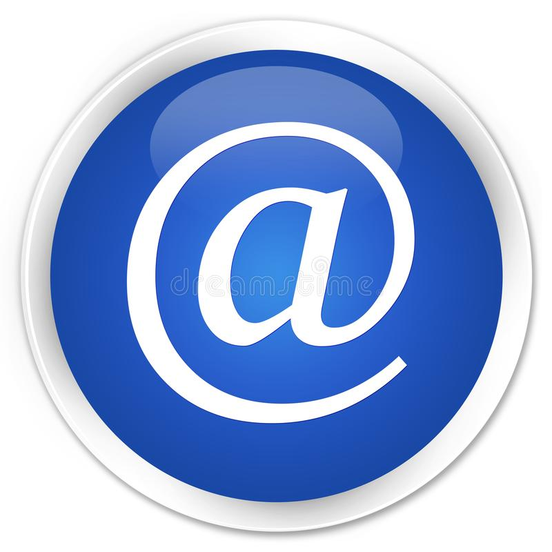 Email address icon premium blue round button. Email address icon isolated on premium blue round button abstract illustration royalty free illustration