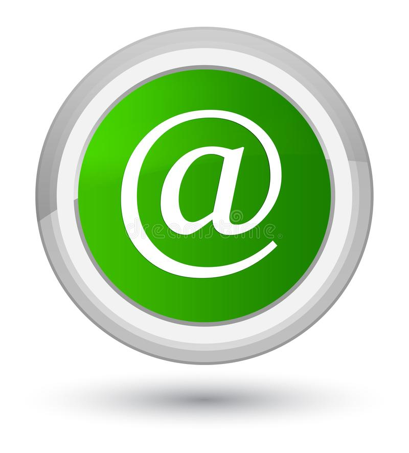 Email address icon prime green round button. Email address icon isolated on prime green round button abstract illustration royalty free illustration