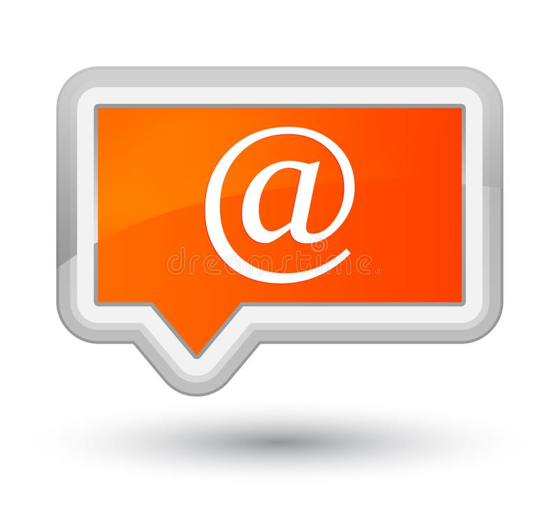 Email address icon prime orange banner button. Email address icon isolated on prime orange banner button abstract illustration royalty free illustration