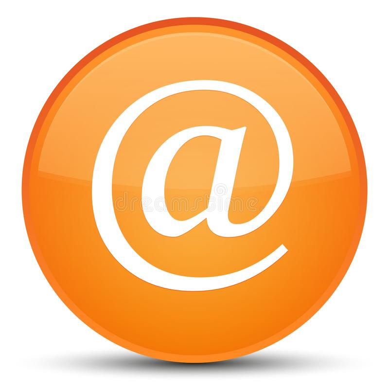 Email address icon special orange round button. Email address icon isolated on special orange round button abstract illustration vector illustration