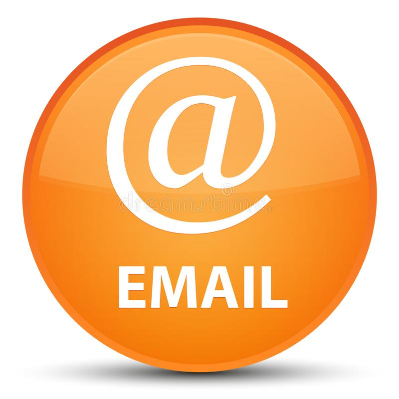 Email (address icon) special orange round button. Email (address icon) isolated on special orange round button abstract illustration royalty free illustration