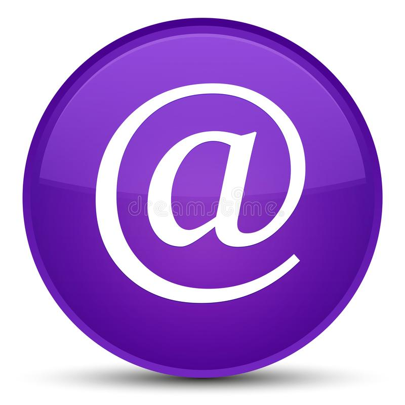 Email address icon special purple round button. Email address icon isolated on special purple round button abstract illustration stock illustration