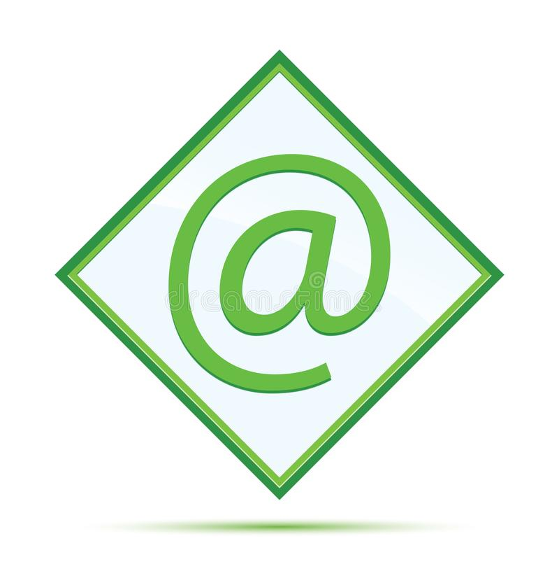 Email address icon modern abstract green diamond button. Email address icon isolated on modern abstract green diamond button vector illustration