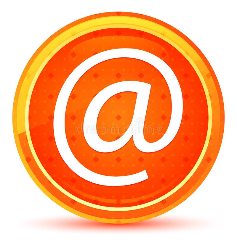 Email address icon natural orange round button. Email address icon isolated on natural orange round button royalty free illustration