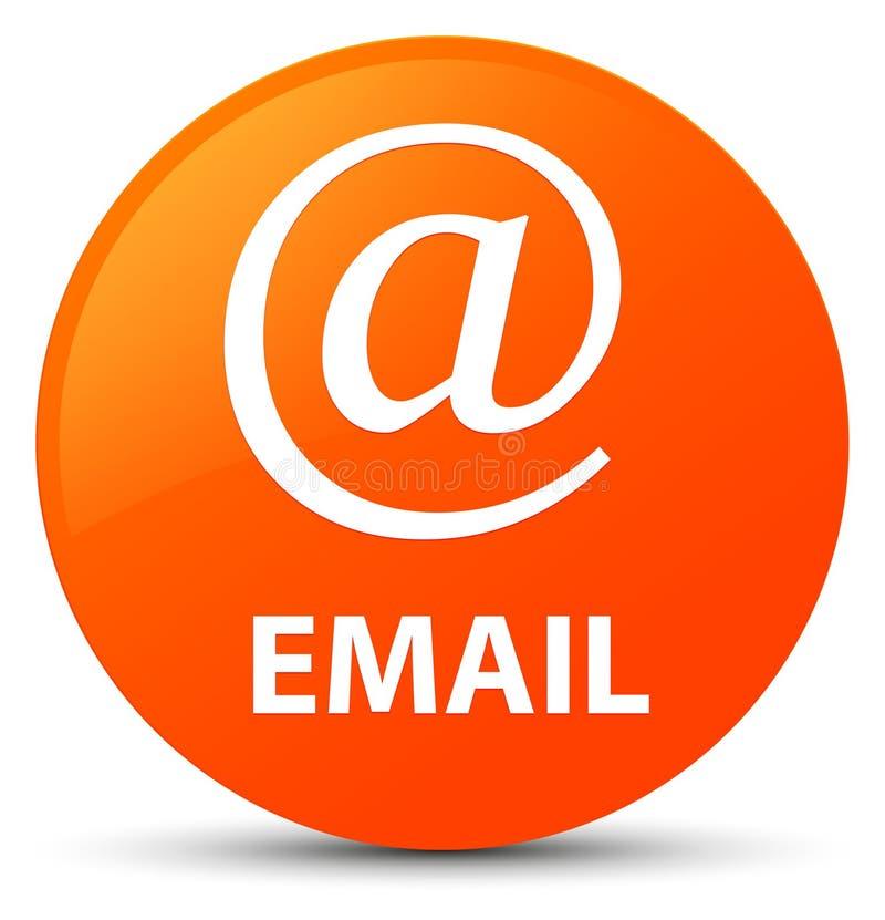 Email (address icon) orange round button. Email (address icon) isolated on orange round button abstract illustration royalty free illustration