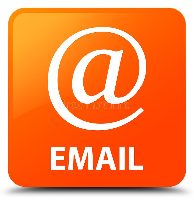 Email (address icon) orange square button. Email (address icon) isolated on orange square button abstract illustration stock illustration