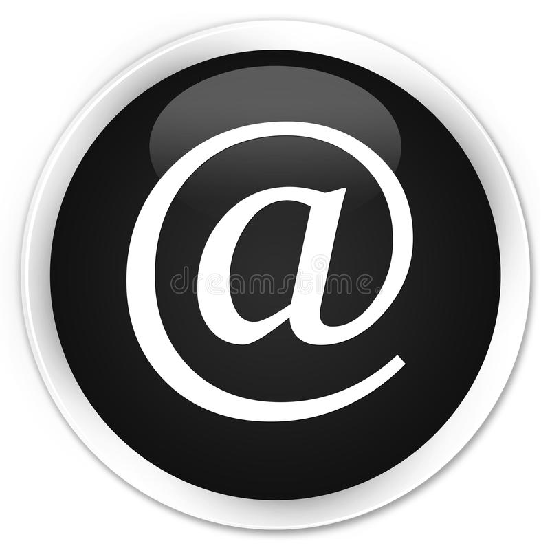 Email address icon premium black round button. Email address icon isolated on premium black round button abstract illustration royalty free illustration