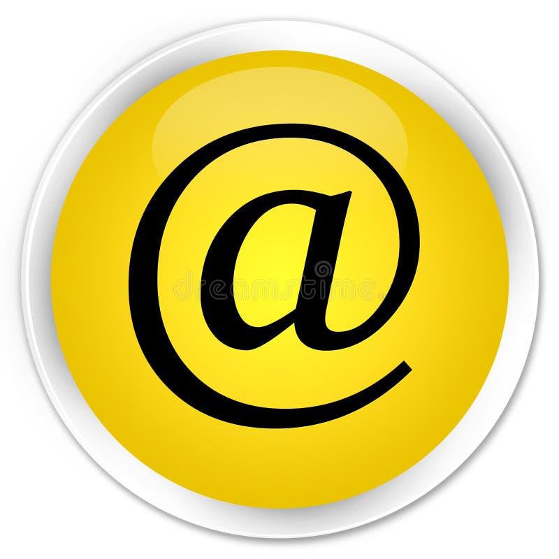 Email address icon premium yellow round button. Email address icon isolated on premium yellow round button abstract illustration stock illustration