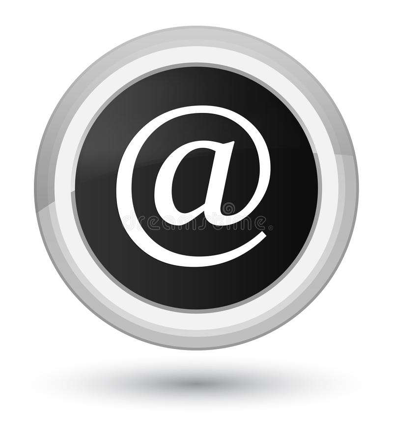 Email address icon prime black round button. Email address icon isolated on prime black round button abstract illustration stock illustration
