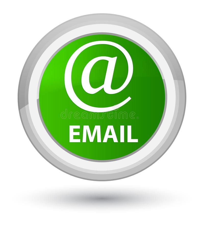 Email (address icon) prime green round button. Email (address icon) isolated on prime green round button abstract illustration royalty free illustration