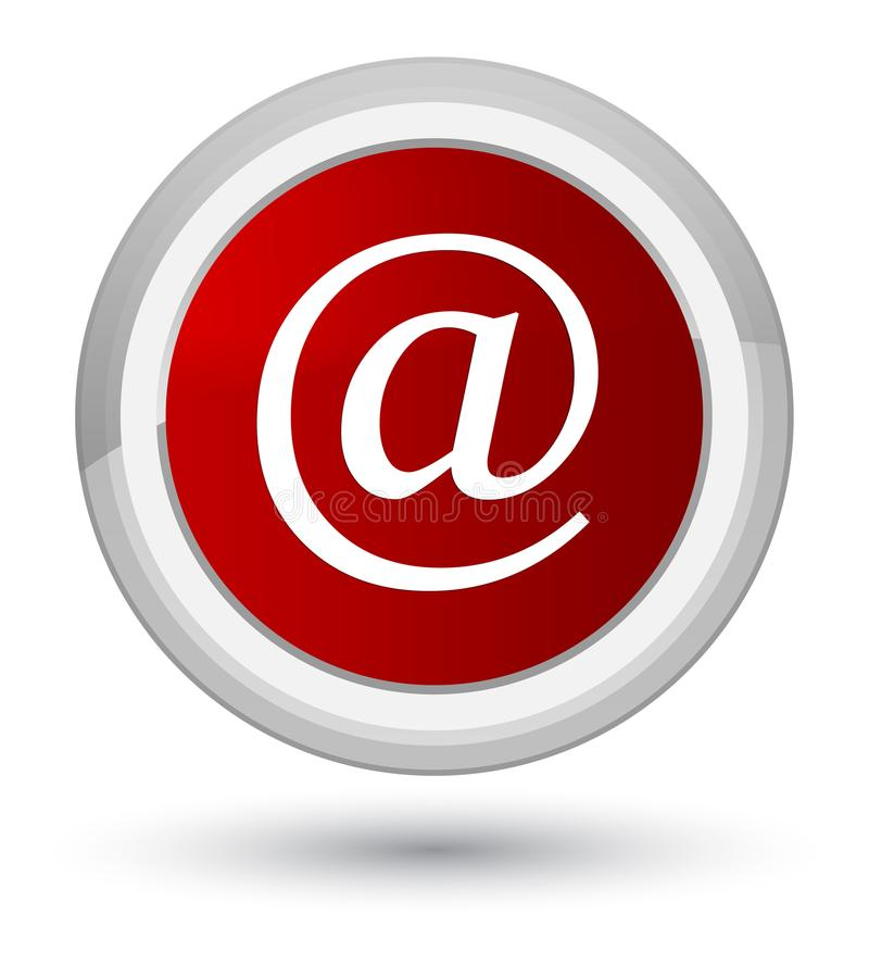 Email address icon prime red round button. Email address icon isolated on prime red round button abstract illustration vector illustration