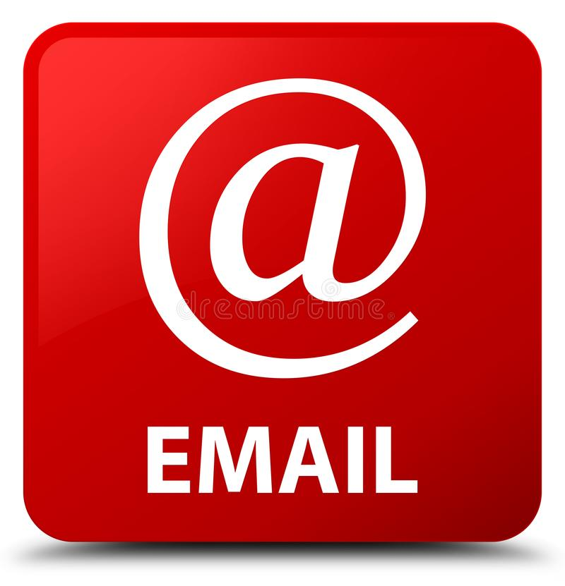 Email (address icon) red square button. Email (address icon) isolated on red square button abstract illustration royalty free illustration
