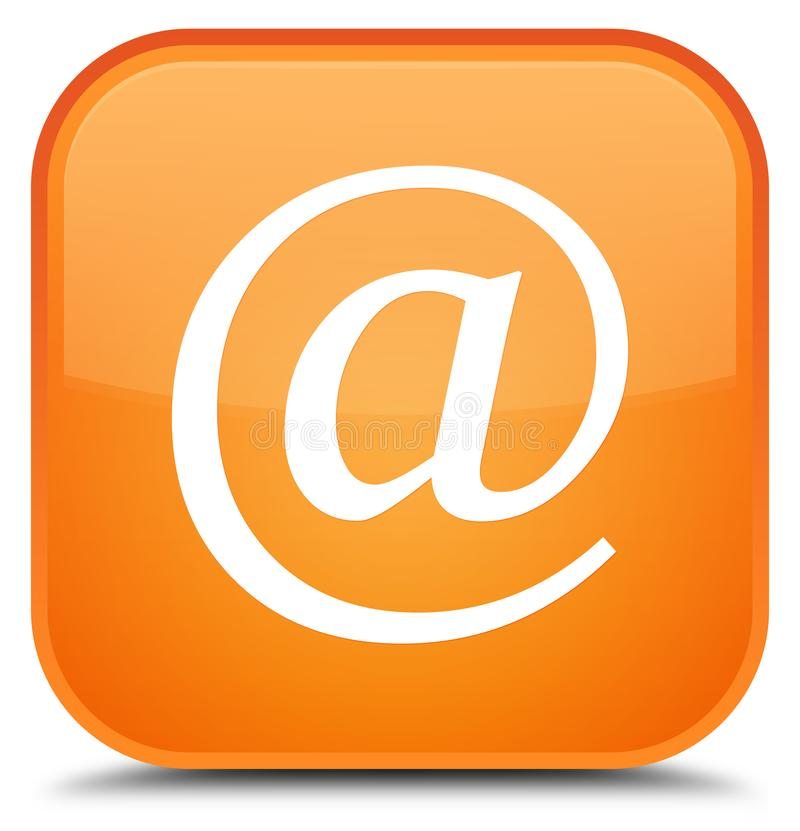 Email address icon special orange square button. Email address icon isolated on special orange square button abstract illustration stock illustration