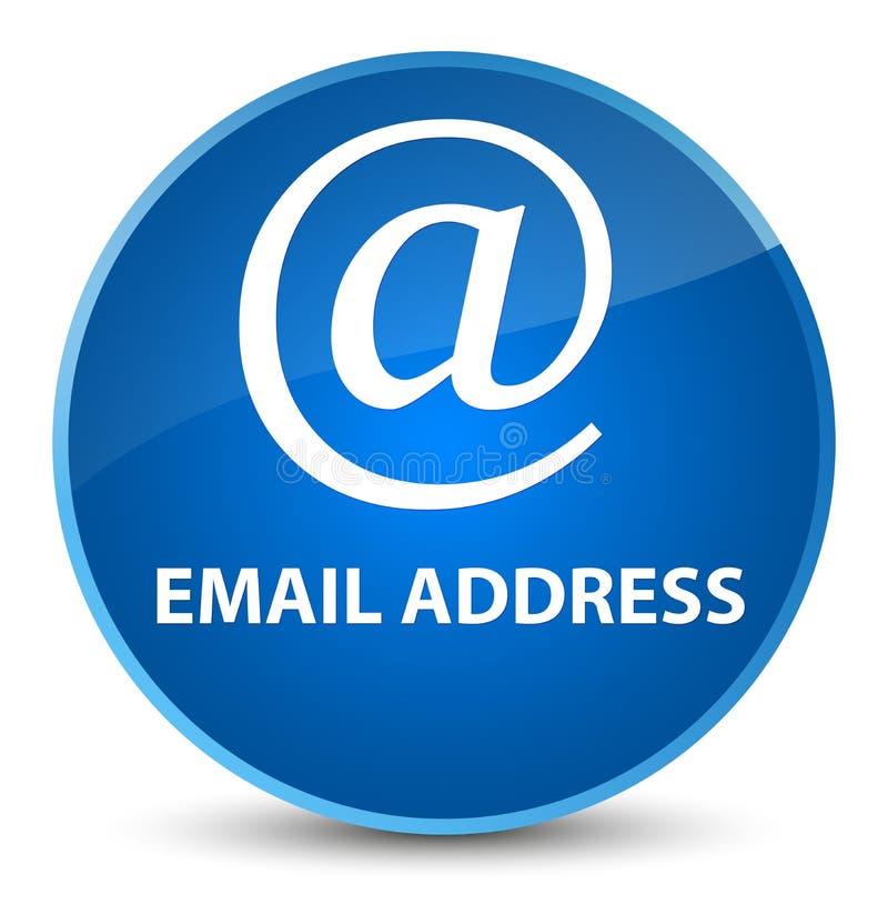 Email address elegant blue round button. Email address isolated on elegant blue round button abstract illustration royalty free illustration