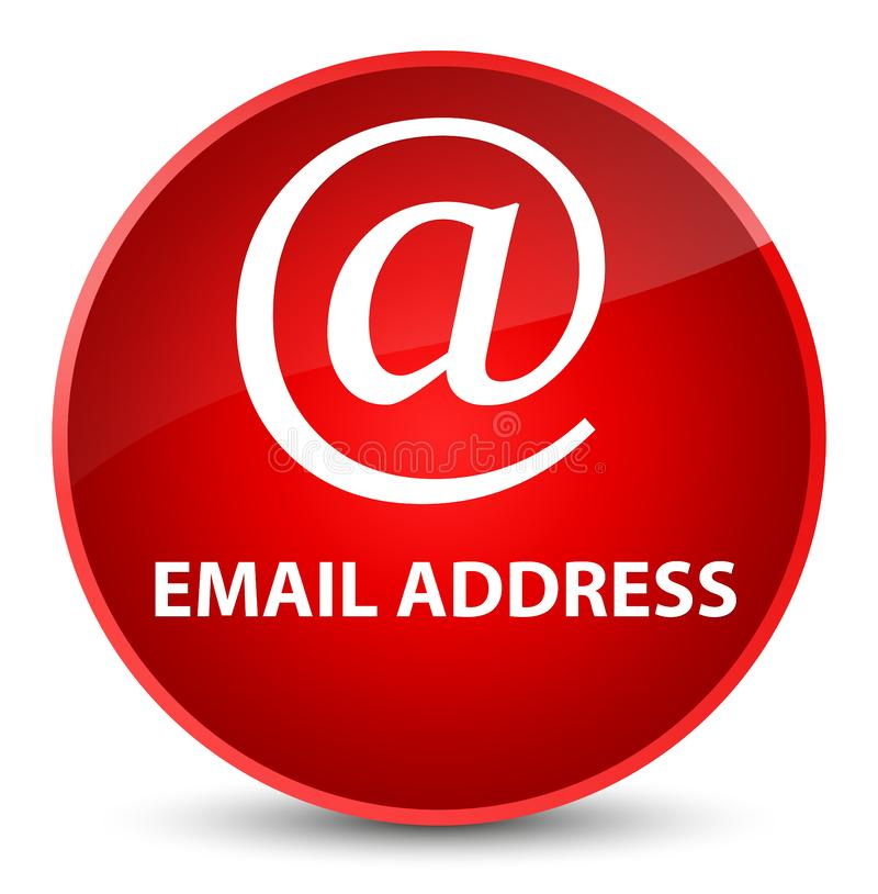 Email address elegant red round button. Email address isolated on elegant red round button abstract illustration royalty free illustration